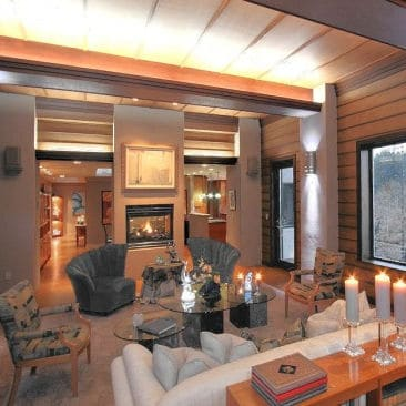 Frank Lloyd Wright-Inspired Living Room