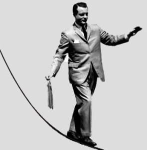 Achieving your home improvement goal is like walking a tightrope.
