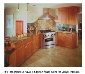 A kitchen focal point adds visual interest