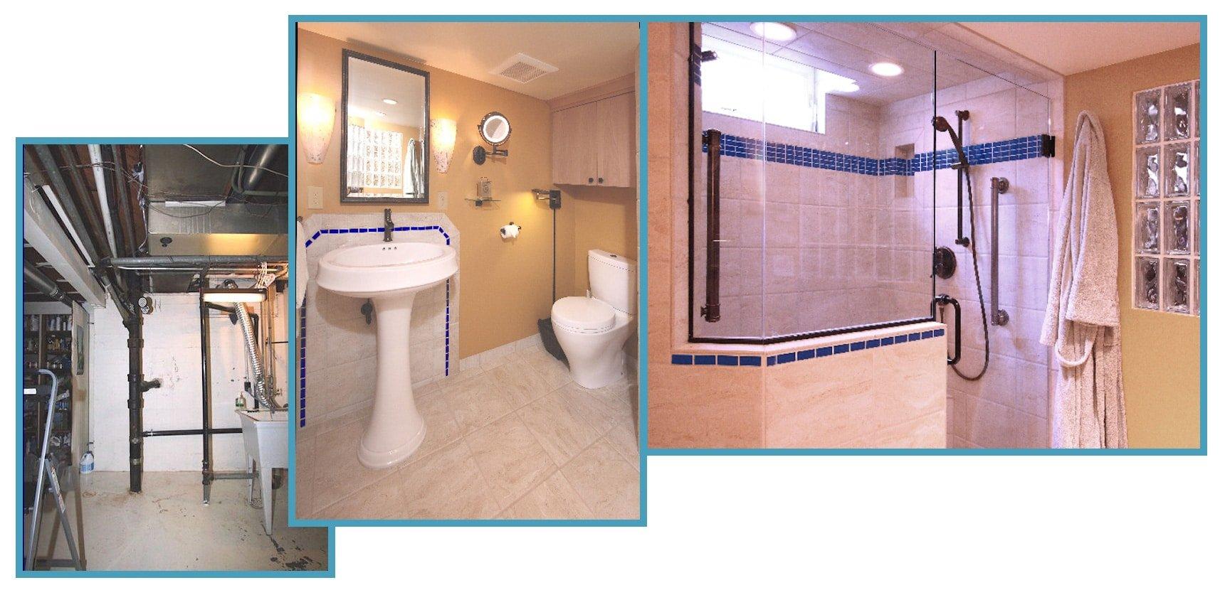 1950s Home New Basement Bathroom 1