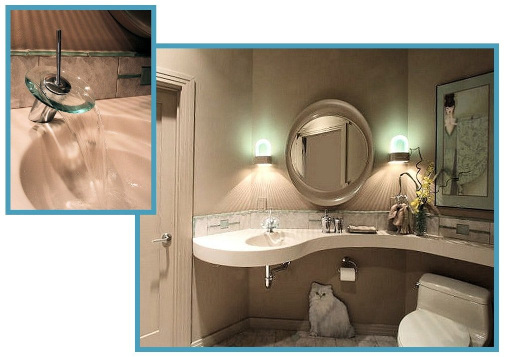 Glass Accents A New Accessible Guest Bathroom 1