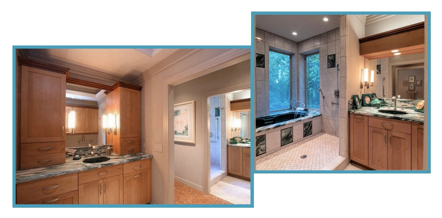 Two New Separate Master Bathrooms 1