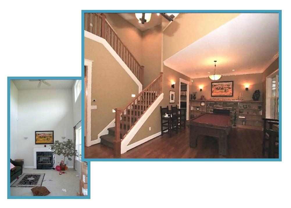 Remodeled Craftsman Living Room 1